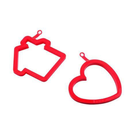 Imagem de Moldes para Ovo em Formato de Casa e Coração Silikomart