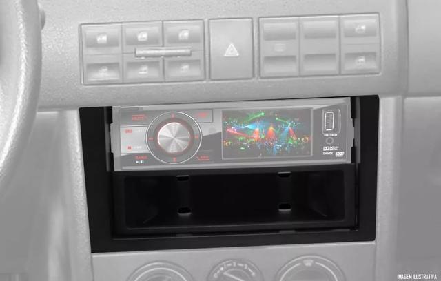 Imagem de Moldura De Painel 1 Din Vw Gol G3  + Porta Objeto - Para CD / MP3 DVD Retrátil