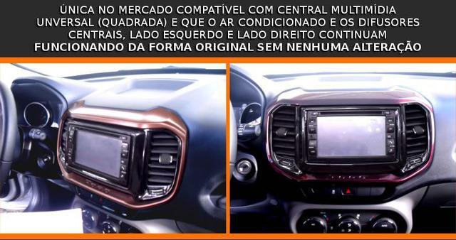 Imagem de Moldura De Painel 2 Din Fiat Toro 2016 2017 2018 Para Cd Dvd 2 Dins - Padrão Original