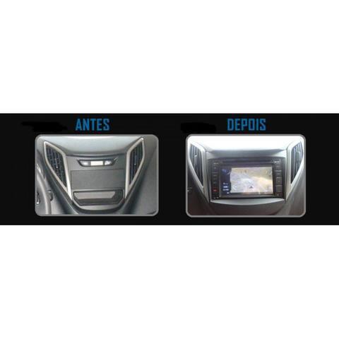 Imagem de Moldura De Painel  Para CD DVD 2 Din Hyundai HB20  - Sem Som Original De Fábrica
