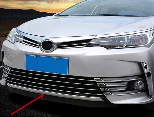 Imagem de Moldura Friso Cromado grade Bumper Frontal Toyota Corolla