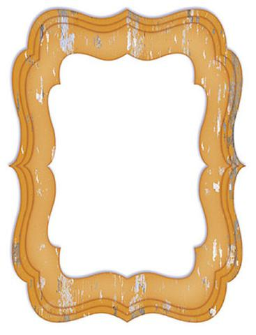 Imagem de Molduras em Madeira MDF com Papel colado Amarelo MPM-006 - Litoarte
