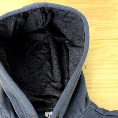 Imagem de Moletom Canguru Com Zíper Adulto Unissex Cinza Escuro - Torres Confecções