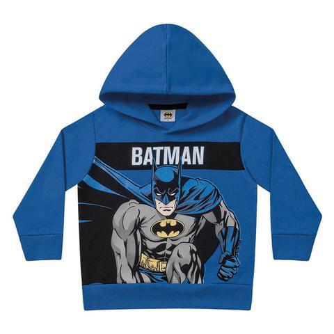 Imagem de Moletom Infantil Fakini Batman Capuz Masculino