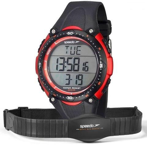 Imagem de Monitor Cardíaco Speedo 80565G0EPNP1 Preto com Relógio