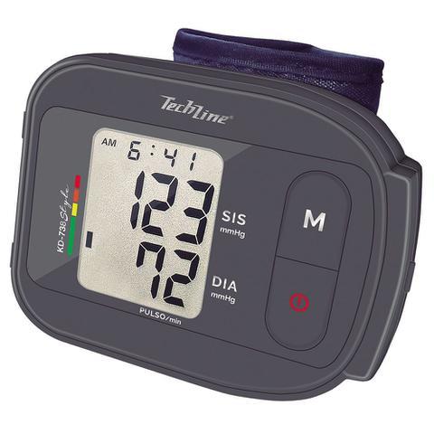 Imagem de Monitor de Pressão Arterial de Pulso Techline KD-738 Cinza com Display LCD