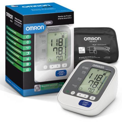Imagem de Monitor de Pressão Arterial Digital de Braço Omron HEM-7130 Automático Cinza e Preto