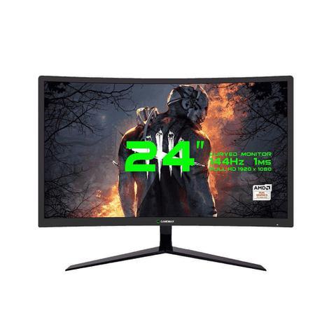 Imagem de Monitor Gamemax Gamer 24 Curvo Full Hd 144hz Freesync Preto