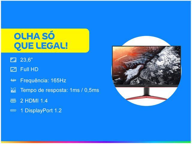 """Imagem de Monitor Gamer Acer KG241QS 23,6"""" LED Widescreen"""