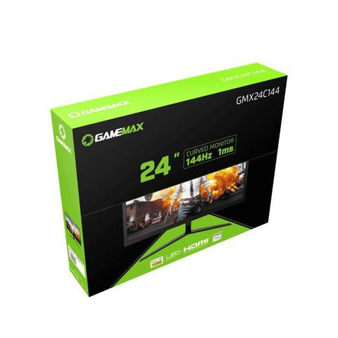 Imagem de Monitor Gamer GameMax 24 Curvo, FHD, 144Hz, 1ms, GMX24C144