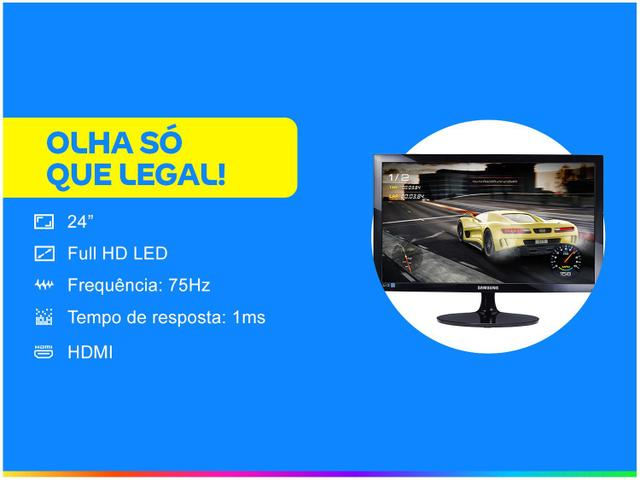 """Imagem de Monitor Gamer Samsung S24D332H 24"""" LED Full HD"""