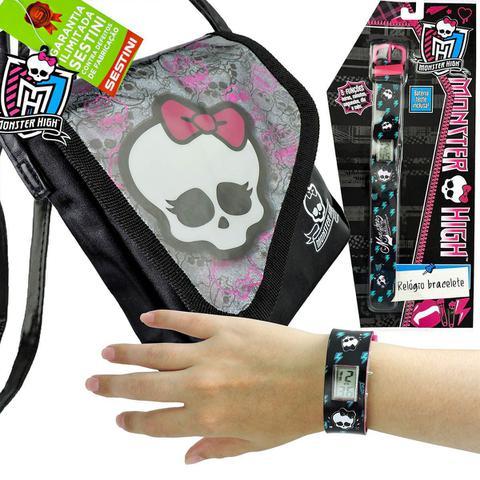 Imagem de Monster High Relógio de Pulso Digital  mais Bolsinha  Skullete