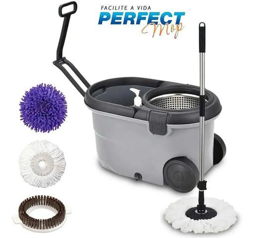 Imagem de Mop  Perfect  Balde Pro 360 Inox C/3 Refis PROFISSIONAL