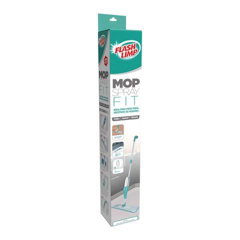 Imagem de Mop Spray 1.29m 400ml Rodo Esfregão 2 em 1 Limpa vidros - Flash Limp