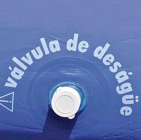 Imagem de Mor Piscina Inflável Redonda 2400 Litros Resistente Grande 2.40x2.40 Metros + Inflador