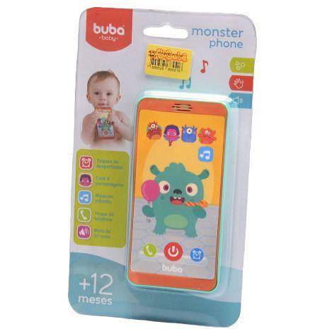 Imagem de Mordedor bebe buba formato de celular -baby phone monstrinho
