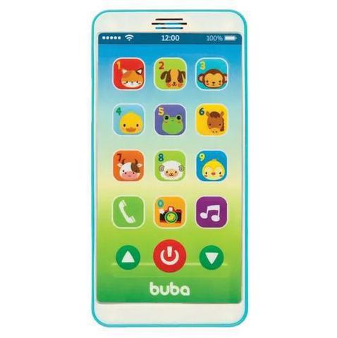 Imagem de Mordedor para bebe buba formato de celular - baby phone azul