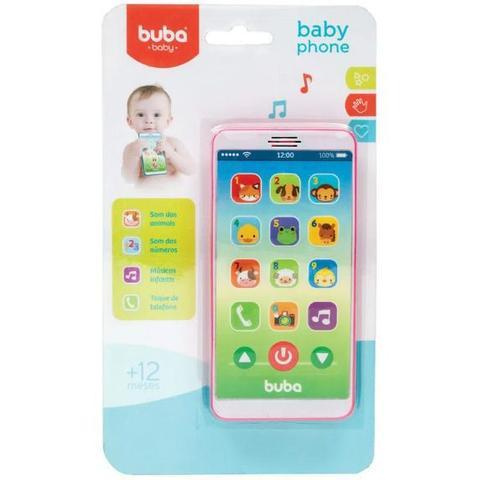 Imagem de Mordedor para bebe buba formato de celular - baby phone rosa