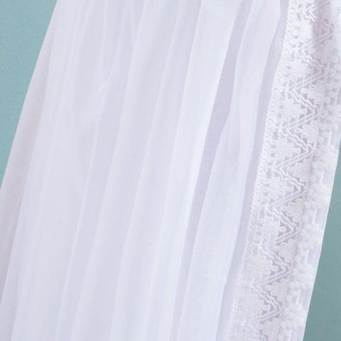 Imagem de Mosquiteiro Avulso Voil Branco com Renda para Dossel