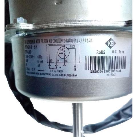 Imagem de Motor ventilador condensadora ar condicionado split wall gree 12000 18000 24000 btus fw68b 220v 68w