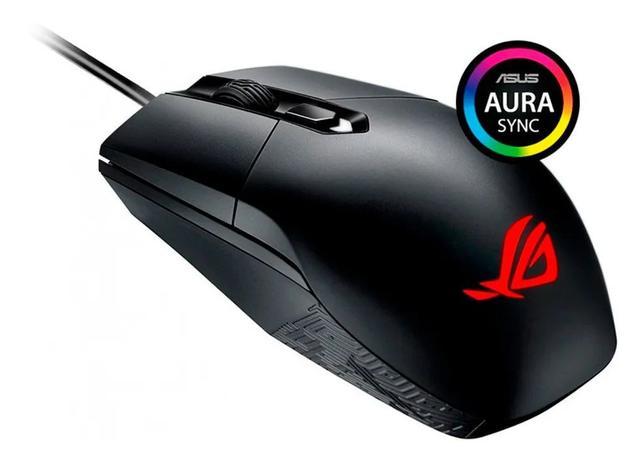 Mouse Usb Óptico Led 5000 Dpis Rog Strix Impact Rgb P303 Asus
