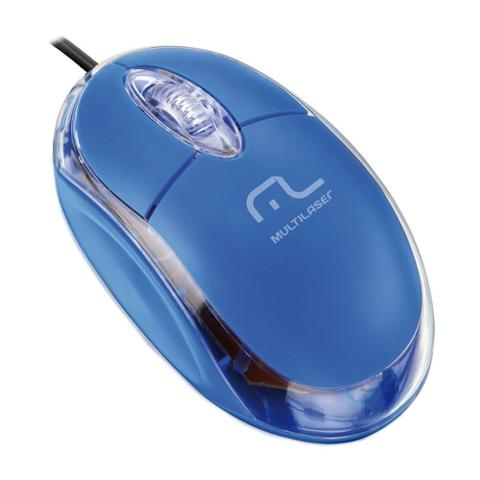 Imagem de Mouse classic optico azul usb mo001