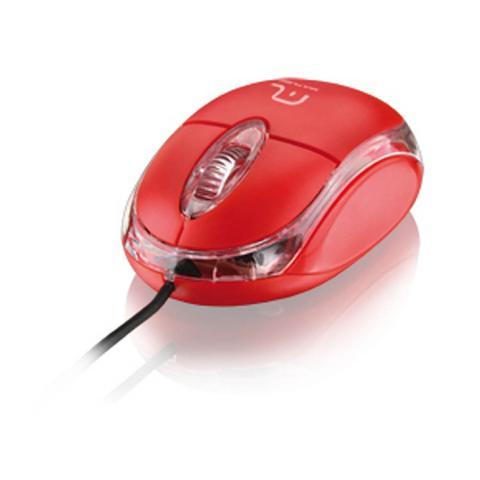 Imagem de Mouse classic optico vermelho usb mo003