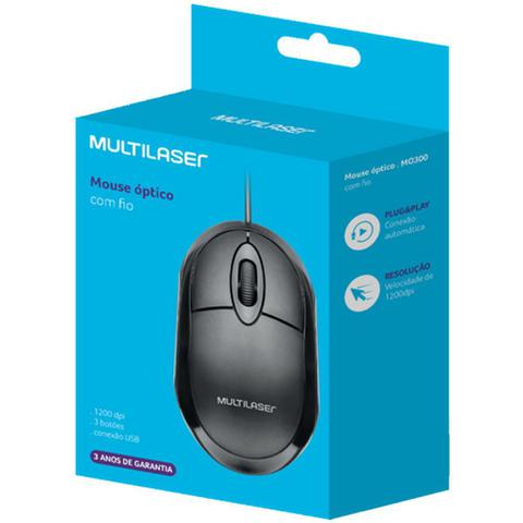 Mouse Óptico Led Classic Mo300 Multilaser