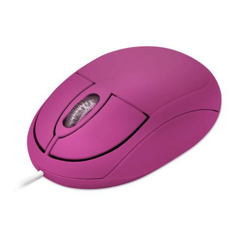 Mouse Usb Óptico Led 1000 Dpis Retrátil Mo3 Multilaser