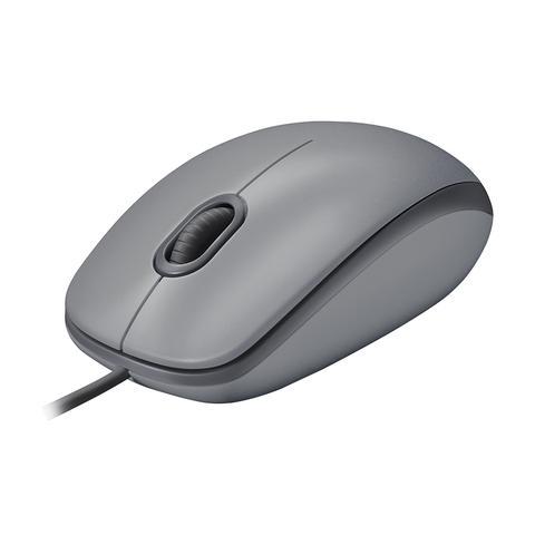 Imagem de Mouse com fio logitech m110 cinza