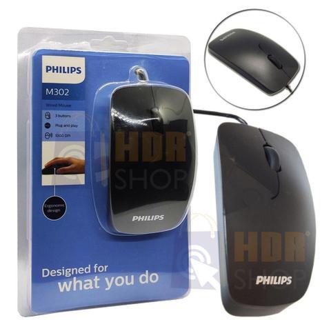 Mouse Usb Óptico Led 1000 Dpis Spk7302b Philips