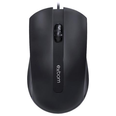Imagem de Mouse com Fio USB 1000DPI Preto Exbom MS-50