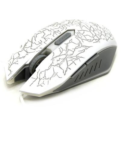 Mouse Usb Óptico Led 2400 Dpis Branco Kp-v16 Knup