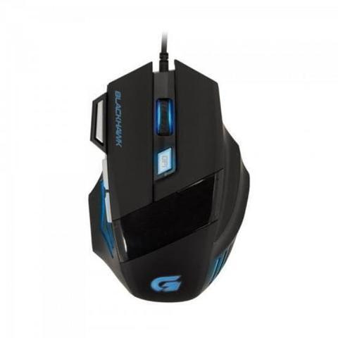 Mouse Usb Óptico Led 2400 Dpis Black Hawk Om-703 / Gk-702 Fortrek