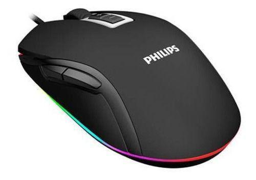 Mouse Usb Óptico Led 2400 Dpis Spk9212b Philips