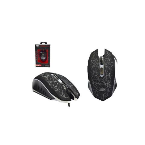 Mouse Usb Óptico Led 2400 Dpis Gamer Preto Ltm-982 Dex