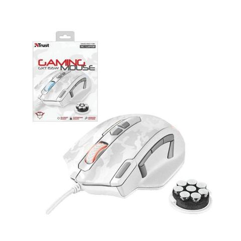 Mouse Usb Óptico Led 4000 Dpis Gxt 155w Branco 20852 Trust