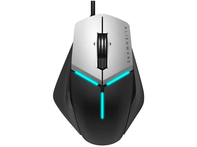 Mouse Usb Óptico Led 12000 Dpis Alienware Elite Gaming Aw958 Dell