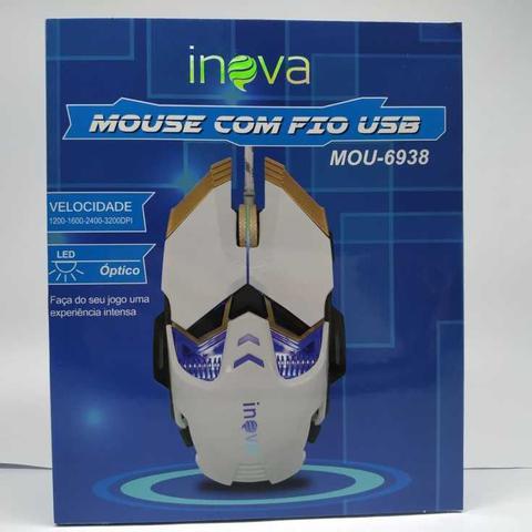 Imagem de Mouse gamer óptico inova  c/fio usb velocidade 3200 mou-6938 cores