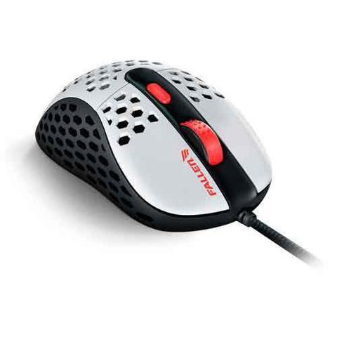 Imagem de Mouse Gamer Óptico Ultraleve Fallen Gear Mars Branco e Preto - F65