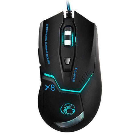 Imagem de Mouse Gamer Profissional B-Max X8 Gaming (Preto) 6D / 3200DPI / E-sport