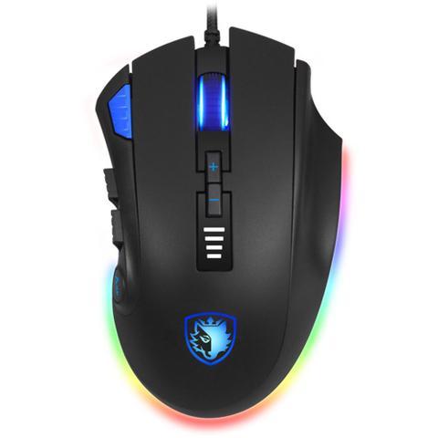 Mouse 1000 Dpis Gamer Axe Rgb Sades