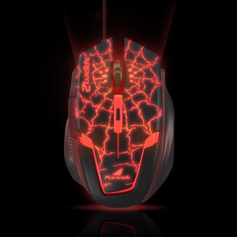 Imagem de Mouse Gamer USB SPIDER 2 OM-705 Preto e Vermelho FORTREK