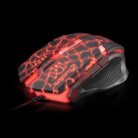 Imagem de Mouse Gamer USB SPIDER 2 OM-705 Preto/Vermelho FORTREK