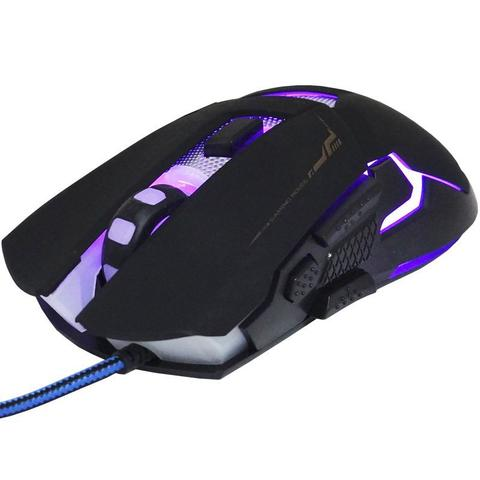 Mouse Usb Óptico Led 3200 Dpis Gamer Gm-720 Infokit