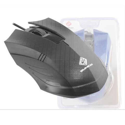 Mouse Usb Óptico Led 1200 Dpis Cinza Fx-79 Sumexr