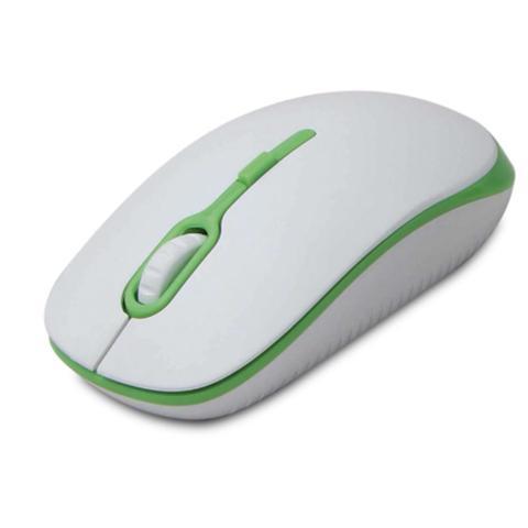 Mouse Usb Óptico Led 1200 Dpis Soft Branco e Verde Maxprint