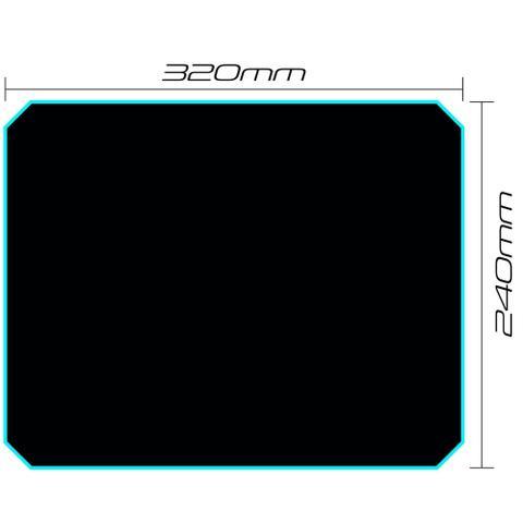Imagem de Mouse Pad Gamer Speed MPG101 32x24cm Microfibra Preto FORTREK