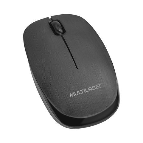 Imagem de Mouse Sem Fio 2.4 Ghz 1200 Dpi Preto Usb Multilaser - MO251