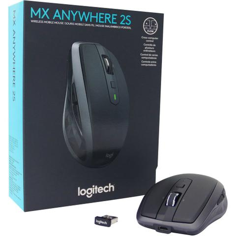 Mouse Wireless Óptico Led 1000 Dpis Mx Anywhere 2s 910-005132 Logitech